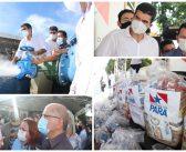 Solução e esperança: Câmara de Santarém participa de inauguração de obra do Estado em abastecimento de água e entrega de cestas básicas